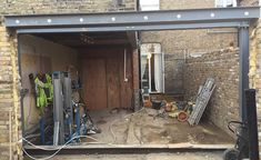 side return space in the process of the extension A single-storey extension has allowed Mel and Alex Walker to create a perfect entertaining space in their terraced home Kitchen Extension Side Return, Cottage Extension, Kitchen Diner Extension, Side Extension, House Extension Design, Glass Extension, House Design, Extension Ideas, Building Extension
