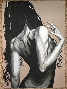 - print on cardstock paper or canvas - acrylic - monochromatic painting Anatomy Art, Art Drawings Sketches, Figure Painting, Portrait Art, Erotic Art, Figurative Art, Love Art, Female Art, New Art