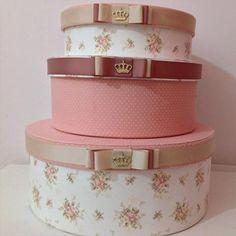 #princesa #caixa #caixas #caixaspersonalizadas #caixasdecoradas #caixaredonda #triocaixas #caixasdecorativas #baby #linhababy #bebê #quartodemenina #quartodebebe