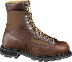 The Carhartt Men's 8 in Safety Toe Work Boots are made with leather and CORDURA® materials and features Storm Defender® waterproofing technology. Carhartt Boots, Logger Boots, Anti Fashion, Goodyear Welt, Steel Toe, Cool Boots, Brown Boots, Low Heels, Fashion Boots