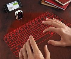 Put the future at your fingertips with our virtual laser keyboard. Revolutionary laser technology projects a virtual keyboard on any flat surface. Advanced optics track your fingers like magic. Connect via Bluetooth wireless technology and enjoy!
