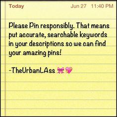 Pin responsibly :)