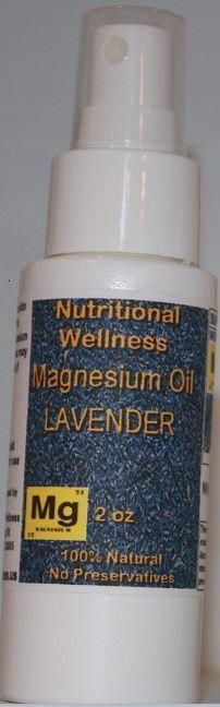 Magnesium Oil Lavender Essential Oil 2oz