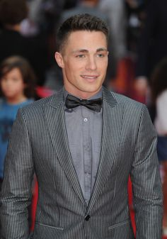 These stripes and bow ties. | Colton Haynes Sings, Is Officially The Most Perfect Human Ever