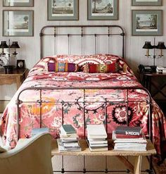 Moroccan Princess Pink Bedroom Design home trends design photos, home design picture at Home Design and Home Interior Antique Iron Beds, Wrought Iron Beds, Antique Brass, Bedroom Apartment, Home Bedroom, Bedroom Decor, Design Bedroom, Bedroom Ideas, Apartment Therapy