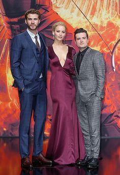 Liam Hemsworth, Jennifer Lawrence and Josh Hutcherson #MockingjayPart2