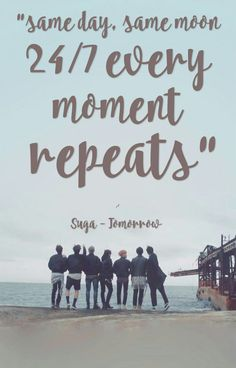 BTS - Tomorrow Lyrics Wallpaper