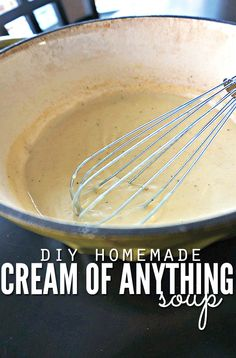 """Get rid of processed canned """"cream of"""" soup and make your own in a couple minutes with a few simple steps. You control the ingredients and flavor, meaning your favorite casseroles will be healthier and rich in flavors you like most! :: DontWastetheCrumbs.com"""