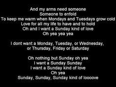 Sunday kind of Love-Instrumental