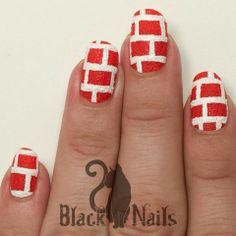 TEXTURED RED BRICK NAIL ART WITH SALLY HANSEN SUGAR COAT