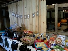 See 1 tip from 2 visitors to Crawford Farms Pumpkin Patch. Farmer Birthday Party, Chili Bar, Pumpkin, Table Decorations, Pumpkins, Squash, Dinner Table Decorations