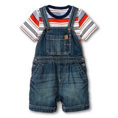 Newborn Boys' Shortall 2PC Set Nighttime Blue