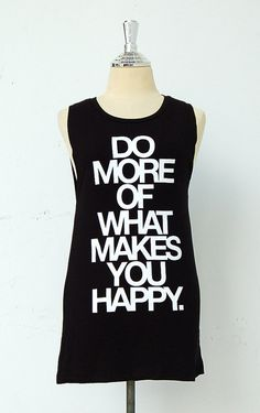 Black tank top/sleeveless tee shirt with quote by GodspeedYouShop, $14.50