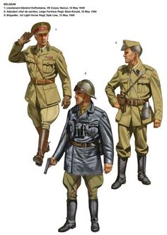Belgian Army uniforms 1940 Ww2 Uniforms, German Uniforms, Military Uniforms, Military Men, Military History, Army Drawing, French Armed Forces, Uniform Insignia, Military Costumes