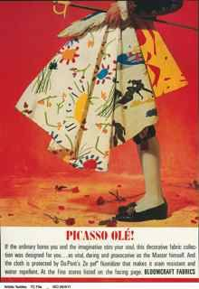 'Picasso Ole!' A Bloomcraft advertisement, 1963.