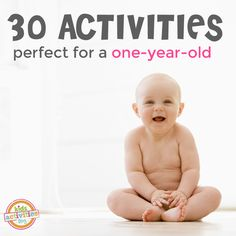 These 1 year old activities will keep baby playing all month long. Find the best games and activities for learning for our youngest children!