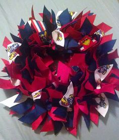 KANSAS UNIVERSITY Jayhawks  11 Ribbon Wreath by NannysSurprise