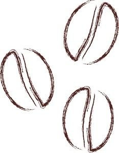 coffee bean hand drawn vector sketch of coffee beans hand drawn rh pinterest com coffee bean openclipart coffee bean openclipart