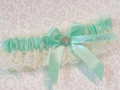 Prom Garter Mint Green Prom Garter Custom by Promgarterevent