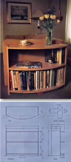 Radius Bookcase Plans - Furniture Plans and Projects | WoodArchivist.com