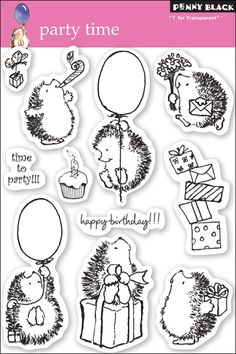 Penny Black Clear Stamps 5 Inch X 7.5 Inch Sheet-Party Time