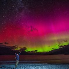 The swirls, twists, and curtains of light of the Aurora Australis were visible from the Australian and New Zealand mainland overnight.