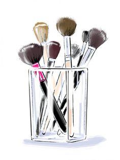 Hélène Métivet illustrator represented by Caroline Maréchal. Art Mural Fashion, Fashion Art, Makeup Drawing, Makeup Art, Art Beauté, Mode Poster, Makeup Illustration, Makeup Wallpapers, Instagram Highlight Icons