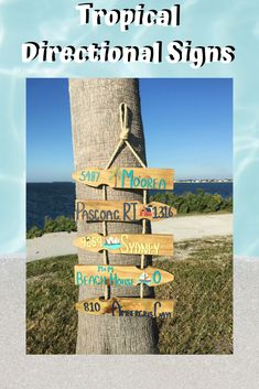 These personalized directional signs are a unique way to remember the destinations you got to check off your bucket list. Pallet Projects, Home Projects, Coastal Colors, Directional Signs, House With Porch, Garden Signs, Florida Home, Coastal Homes, Inspired Homes