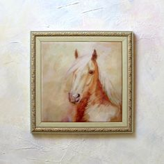 Horse Painting Horse Wall Art Hand Painted Ceramic Tile Horse Horse art Horse Picture paintings original Home Decor Brown Horse Animal art - pinned by pin4etsy.com