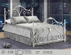 Ansley White Twin Wrought Iron Bed Frame - traditional - kids beds - toronto - Inspired Home Decor Metal Twin Bed Frame, White Metal Bed, Metal Beds, Rod Iron Beds, Iron Twin Bed, Iron Headboard, Headboard And Footboard, Headboards, Cama Vintage