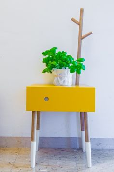 Our collection with Ilaria Marelli that'll be released later in the year Yellow Hallway, Best Interior, Interior Design, Kitchen Units, Green Plants, Cool Diy, Furniture Making, House Colors, Four Square