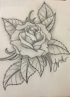 Tattoo Design Drawings, Cool Art Drawings, Pencil Art Drawings, Art Drawings Sketches, Rose Drawing Tattoo, Flower Art Drawing, Chicano Drawings, Drawing Techniques, Coloring