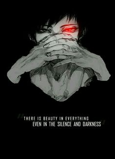 """ There is beauty in everything even in the silence and darkness \"" Anime : Durarara Sad Anime Quotes, Manga Quotes, Yuumei Art, Top 10 Best Anime, Tokyo Ghoul Quotes, Wallpaper Animes, Durarara, Izaya Orihara, Shizaya"