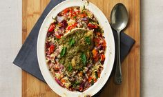 Couscous is quick to make and is a good alternative to starchy carbohydrate. Uk Recipes, Low Sugar Recipes, Recipies, Heart Healthy Recipes, Diabetic Recipes, Baked Pesto Chicken, Main Course Dishes, Cure Diabetes