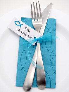 25 Cards Tags Favors Communion Confirmation Fish Petrol Blue Nice to have you there eindecken 🎍 Communion, Watercolor Hand Lettering, Diy Crafts To Do, Fun Wedding Invitations, Little White Dresses, Ikea Hack, Favors, How To Memorize Things, Wedding Decorations