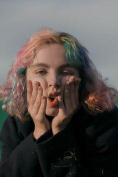 Mora, the multicolored girl by Zoë Lena Rebecchi - Fashion Grunge