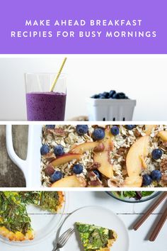 Make Ahead Breakfast Recipies For Busy Mornings via @PureWow