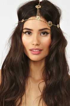 gold chain headband #nastygal