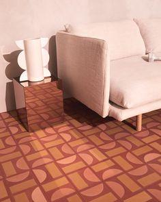 These Warm, Graphic Cement Tiles Will Transport You to a Tuscan Villa — Or the Australian Coast Luxury Mediterranean Homes, Mediterranean Decor, Tuscan Design, Tuscan Style, Floor Decor, Kirchen, Tile Design, Architecture, Flooring