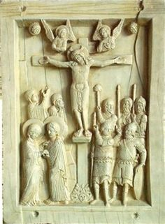"""Byzantine Crucifixion Tablet - by Artistic Holdings Company  Byzantine Crucifixion Tablet - Size: 6.25""""h X 4.5""""w X 0.5""""d Item Type: Christian Relief Material: Resin - Ivory Finish Weight (lbs): 0.6 - - The Crucifixion, Byzantine, Constantinople (10th Century) The Christian Eastern Roman Empire's Culture Is Called Byzantine In Reference To Byzantium, The Classical Name For Constantinople (contemporary Istanbul). In 330 A.d., Emperor Constantine I Transferred The Capital Of His Empire From…"""