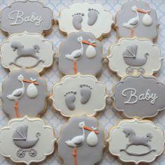 Fofura de bolachas decoradas para Cha de Bebê !