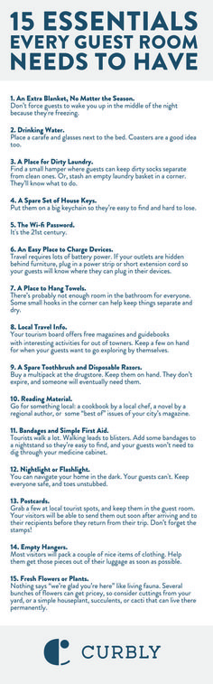 15 things every gues