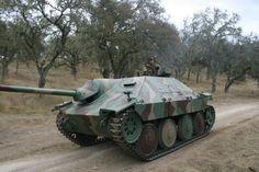 Jagdpanzer 38t Hetzer tank destroyer.