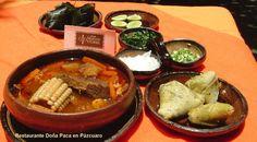 Churipo con Corundas un platillo muy tradicional de la Meseta Purépecha en Restaurante Doña Paca en Pátzcuaro