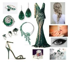 """""""Emerald"""" by floriane97 ❤ liked on Polyvore featuring Piaget, Dolce&Gabbana and Cartier"""