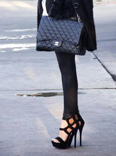 3d9fa3a66b Chanel Maxi Flap and never forget to wear killer heels ladies