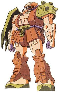 The MS-06DRC Desert Zaku Rommel Custom is a custom variant mobile suit of the MS-06D Desert Zaku and personal machine of Desert Rommel, ace pilot and captain in the old Principality of Zeon army. It appears in the Mobile Suit Gundam ZZ Variations.