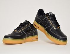 #Nike Air Force 1 Workboot Black/Gum #sneakers