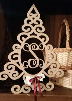Wooden Monogrammed Christmas Tree Wall Hanging by 3SweetsGirlS