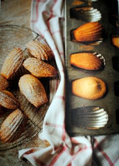 "Reduced-calorie Madeleines, mini cakes recipe from ""The Skinny French Kitchen"""
